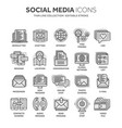 communication social media online chatting vector image vector image