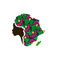concept of mother african woman map of africa vector image vector image