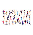 crowd of young men and women dressed in trendy vector image vector image