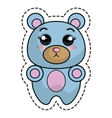 cute bear kawaii character vector image