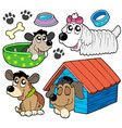 cute dogs collection 2 vector image vector image