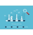 Data analysis strategy planning vector image vector image