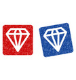 diamond grunge textured icon vector image vector image