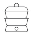 double boiler thin line icon kitchen and cooking vector image vector image