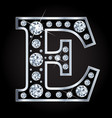 e letter made with diamonds isolated vector image