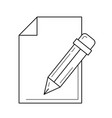 edit post line icon vector image