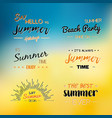 enjoy the summer time logo template vector image