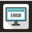 Error sign on a computer monitor icon vector image