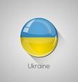 European flags set - Ukraine vector image vector image