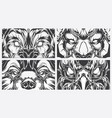 eyes dangerous animals tattoo style background vector image