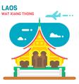 Flat design Wat Xiang Thong vector image vector image