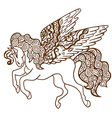 Flying Horse Icon vector image
