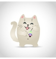 funny little cat vector image
