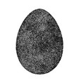 grunge isolated egg vector image