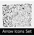 hand drawn arrow icons vector image vector image