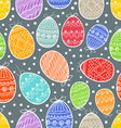 Happy Easter seamless background vector image vector image