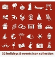 holidays and events icons vector image vector image
