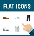 icon flat clothes set of man shoe gumshoes vector image vector image
