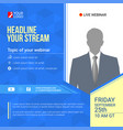 invite for announcements live webinars vector image vector image