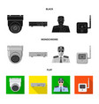 isolated object of office and house icon vector image