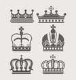 king or queen crown royalty accessory or headdress vector image