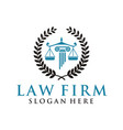 law firm logo vector image vector image