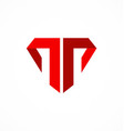 letter t company logo vector image vector image