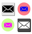 mail letter flat icon vector image