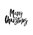 merry christmas card with calligraphy vector image vector image