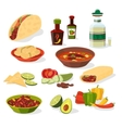 Mexican food icons set vector image
