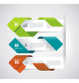 Modern Design Layout - paper progress steps vector image vector image