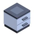 modern nightstand icon isometric style vector image vector image