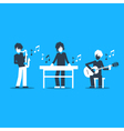 Music band playing live concert saxophone keyboard vector image vector image