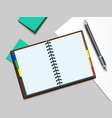 notebooke and pen vector image vector image