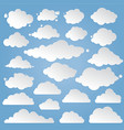 paper clouds set vector image vector image