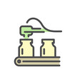 pharmaceutical production and manufacturing icon vector image vector image