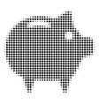piggy bank halftone icon vector image