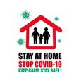 printstop coronavirus covid-19 lockdown stay vector image vector image