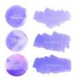 purple watercolor background pastel watercolor vector image vector image