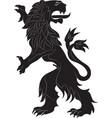 rampant lion vector image vector image