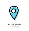 refill water reusable bottle point sign vector image vector image