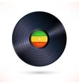 Reggae vinyl record vector image