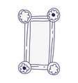 retro frame photo empty accessory decoration icon vector image vector image