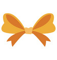 ribbon bow isolated vector image vector image