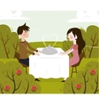 romantic date of man and vector image vector image