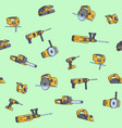 seamless pattern of electric construction tools vector image