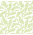 seamless pattern with leaves of fern vector image