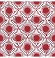 Simple Japanese style chrysanthemum seamless vector image