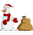 snowman and bag vector image vector image