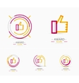 Thumb up icon logo design vector image vector image